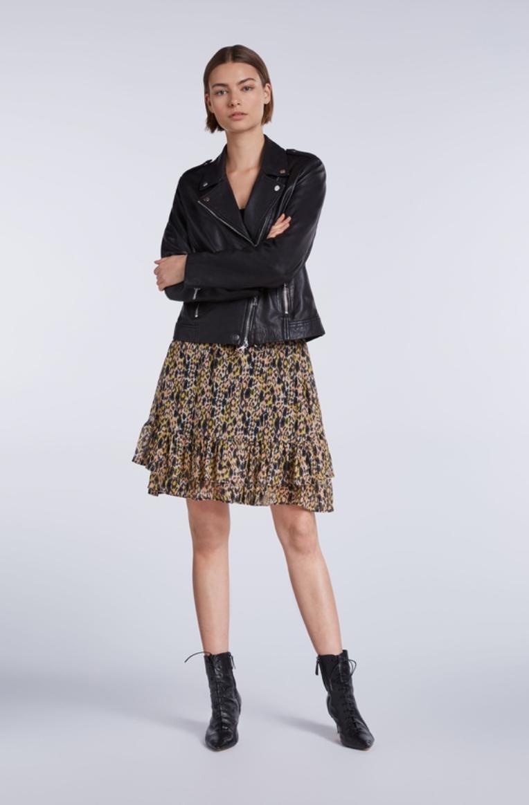 Skirt apricot/black-2