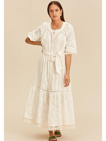 Devotion Midi dress with tresses offwhite