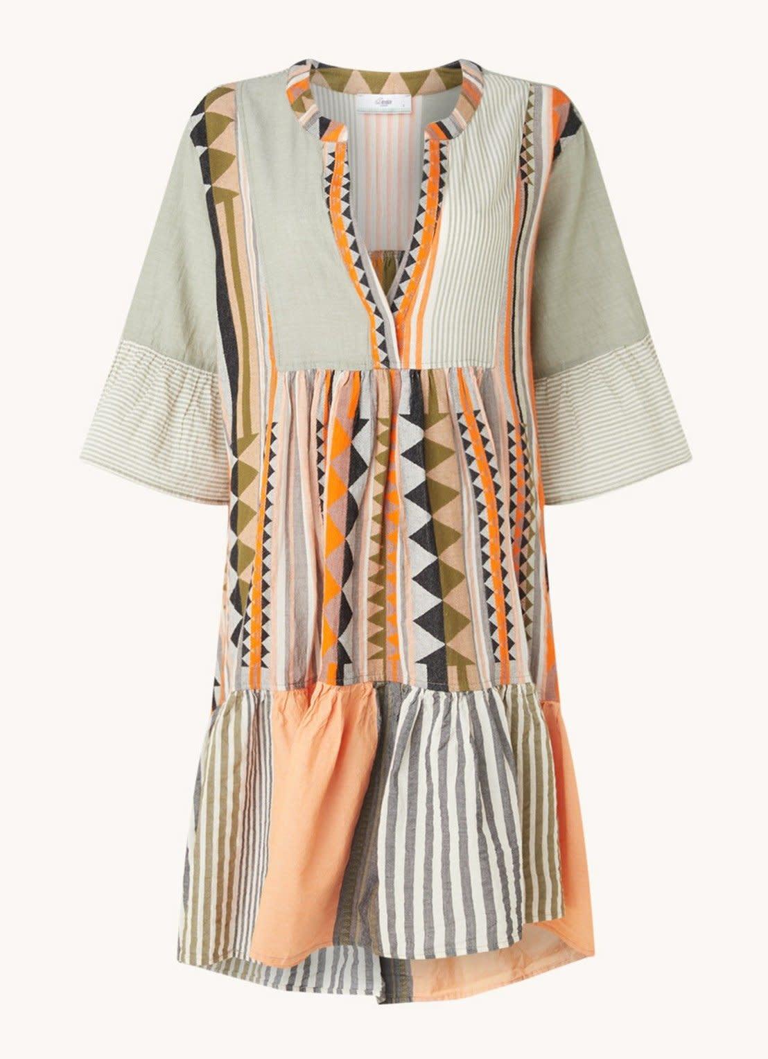 Short dress Ella khaki-1