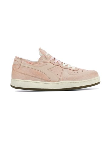 Diadora Sneaker basket row cut suede used pink/powder