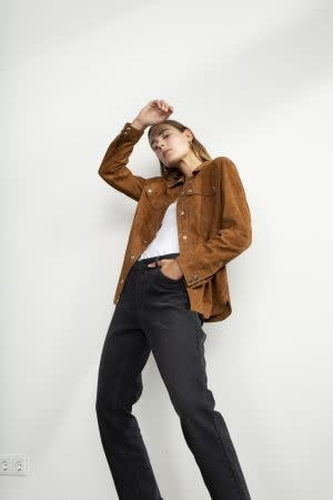 Jacket leather brown-2