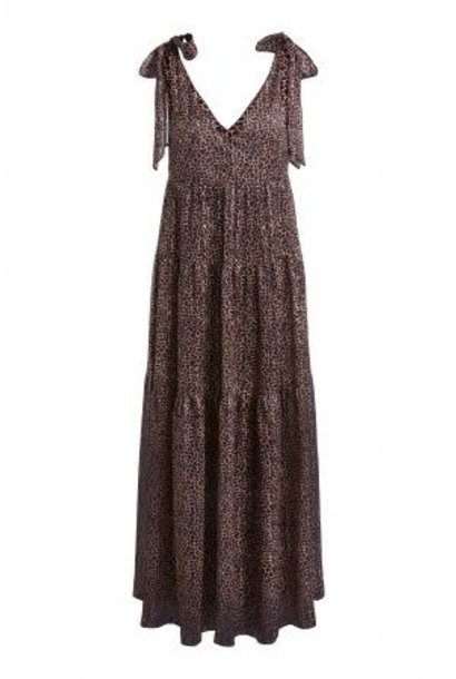 Long dress brown camel