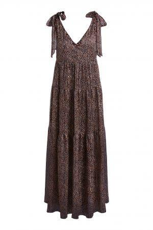Long dress brown camel-1