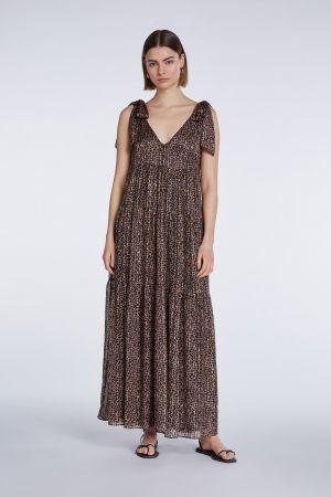 Long dress brown camel-2