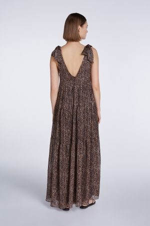 Long dress brown camel-3