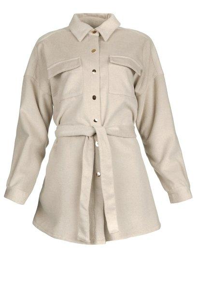 Siden jacket warm grey