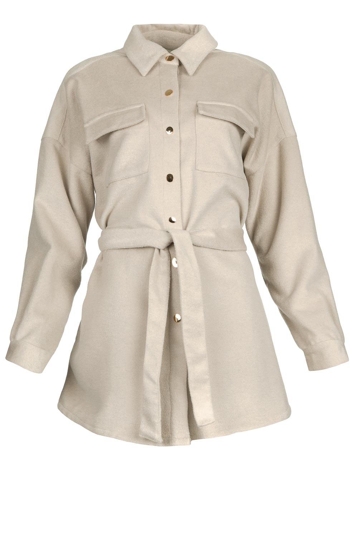 Siden jacket warm grey-1