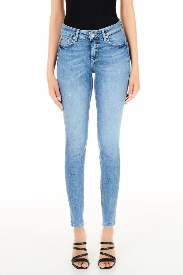 Jeans bottom up divine mid blue wash-1
