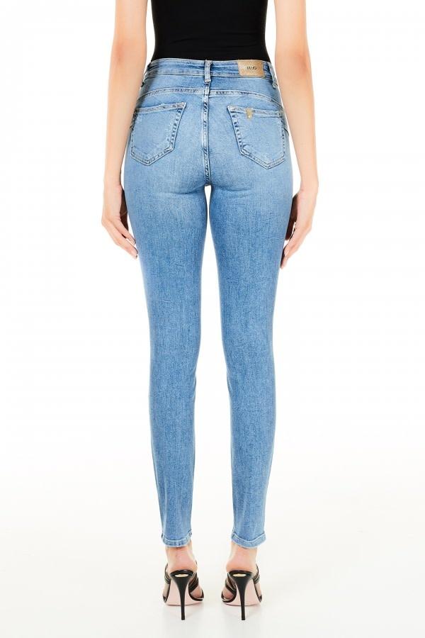 Jeans bottom up divine mid blue wash-2