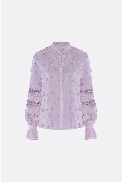 Leo blouse lila
