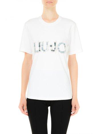 Liu Jo Top logo cotton