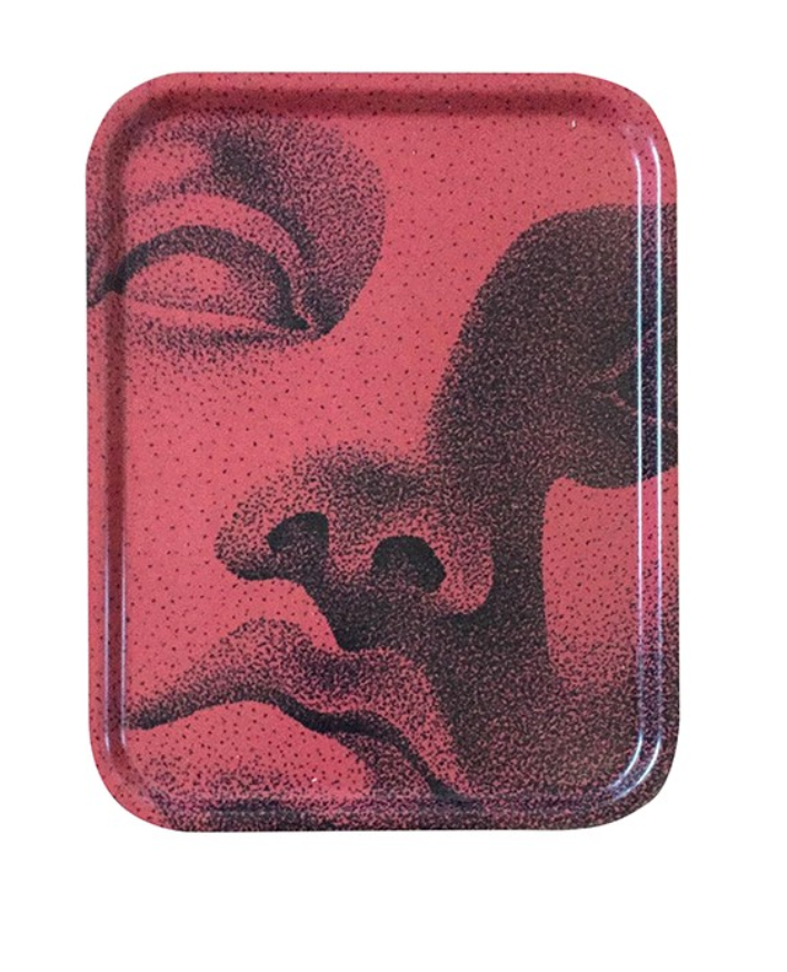 Wooden tray red-1