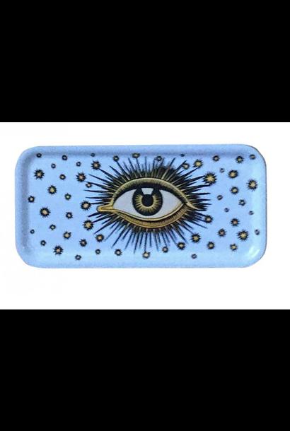 Eyes wooden tray white