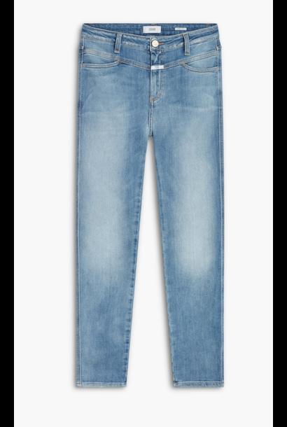 Skinny pusher high waist mid blue