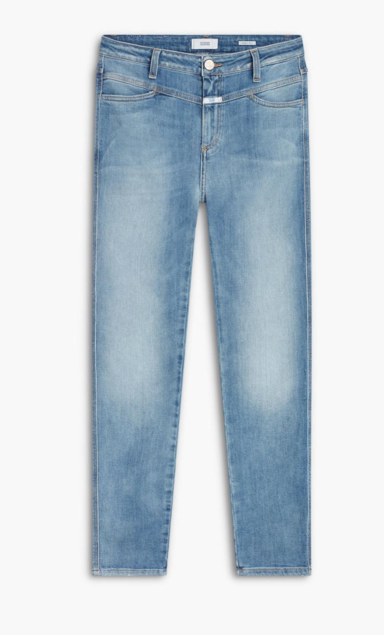 Skinny pusher high waist mid blue-1