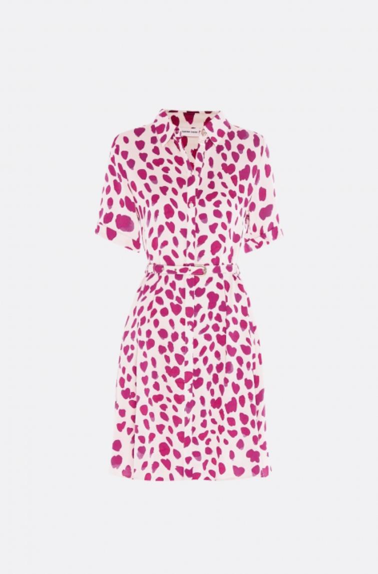 Mila dress cream white / cherry leopard-1
