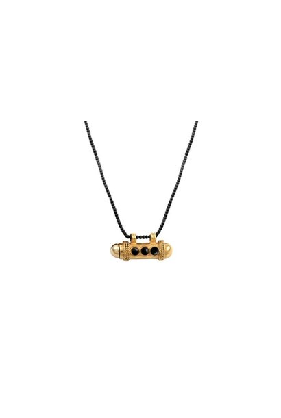 Necklace Onyx gold-plated