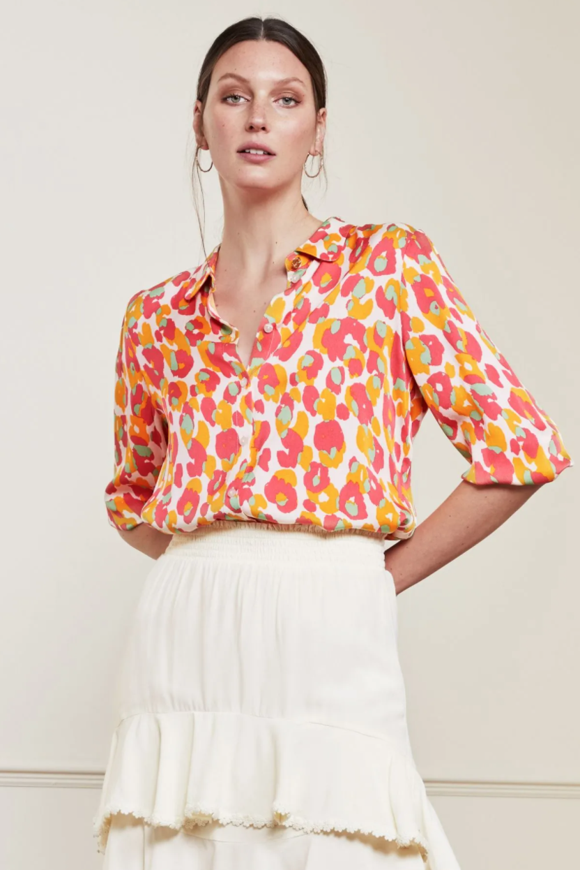 Gina cato blouse  loopy leopard-2