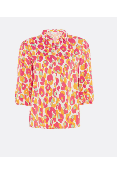 Gina cato blouse  loopy leopard