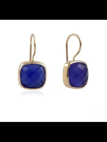 Ps Call Me Gouden oorbellen stone blue