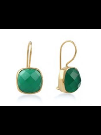 Ps Call Me Gouden oorbellen stone smaragd