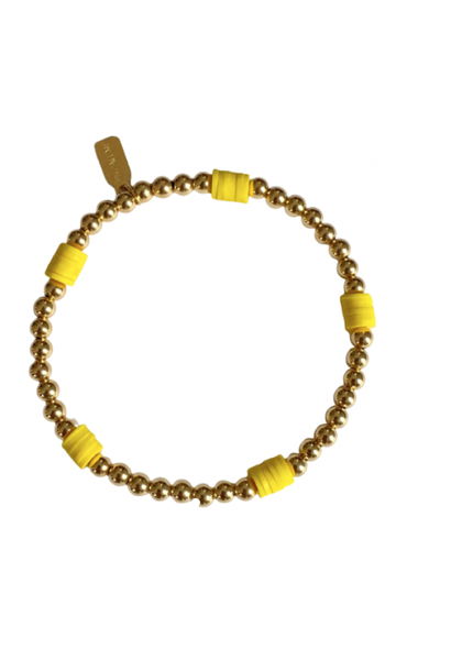 Bracelet beach basic yellow gold coloured