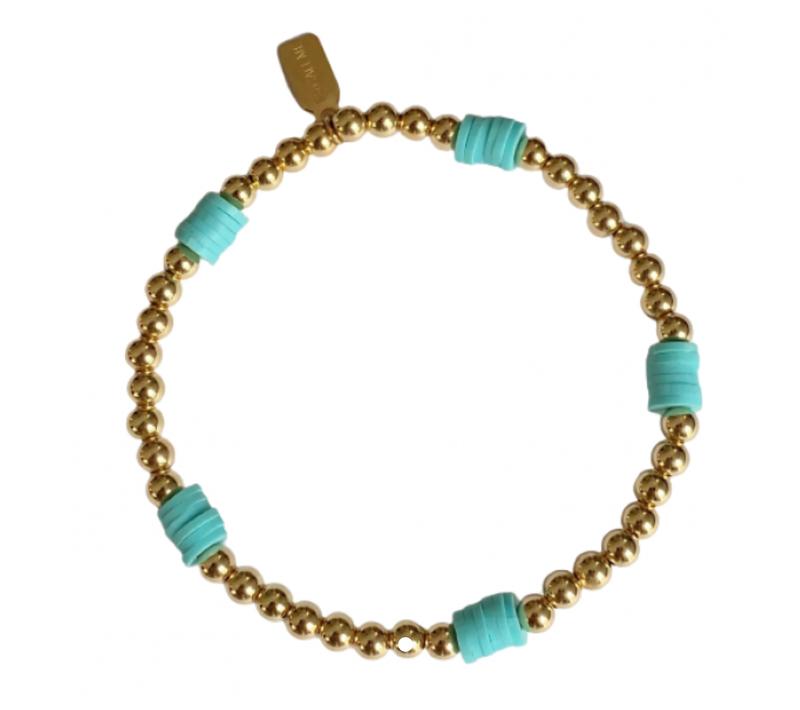 Ps Call Me Bracelet beach basic blue gold coloured