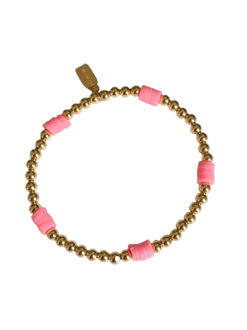 Ps Call Me Bracelet beach basic pink gold coloured