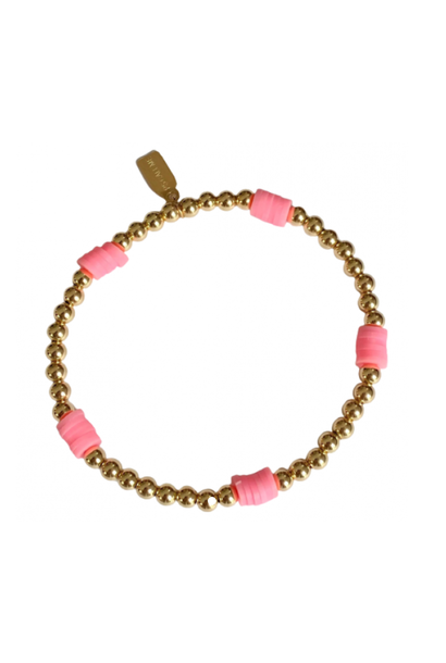 Bracelet beach basic pink gold coloured