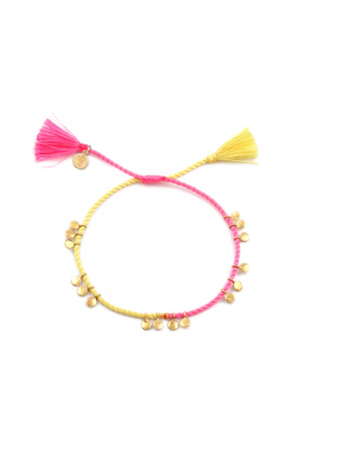 Ps Call Me Disc yellow pink goldplated