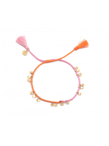 Ps Call Me Disc orange pink goldplated