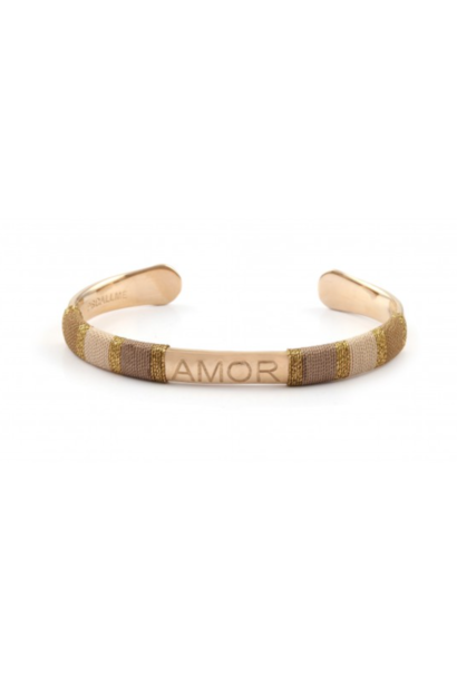 Bangle robe amor sand goldplated
