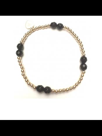 Ps Call Me Bracelet fourt onyx gold coloured