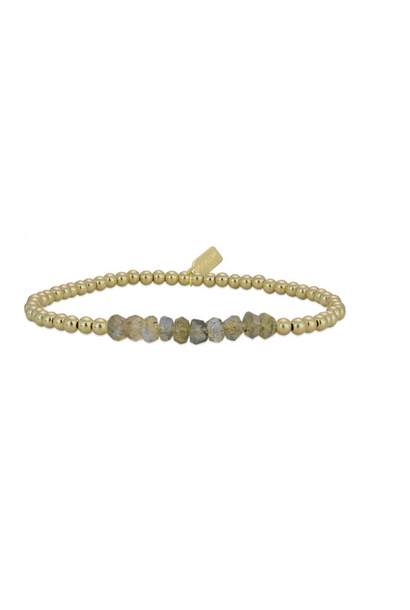 Bracelet chance labradorite  gold coloured
