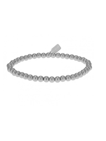 Ps Call Me Bracelet basic silver 4mm