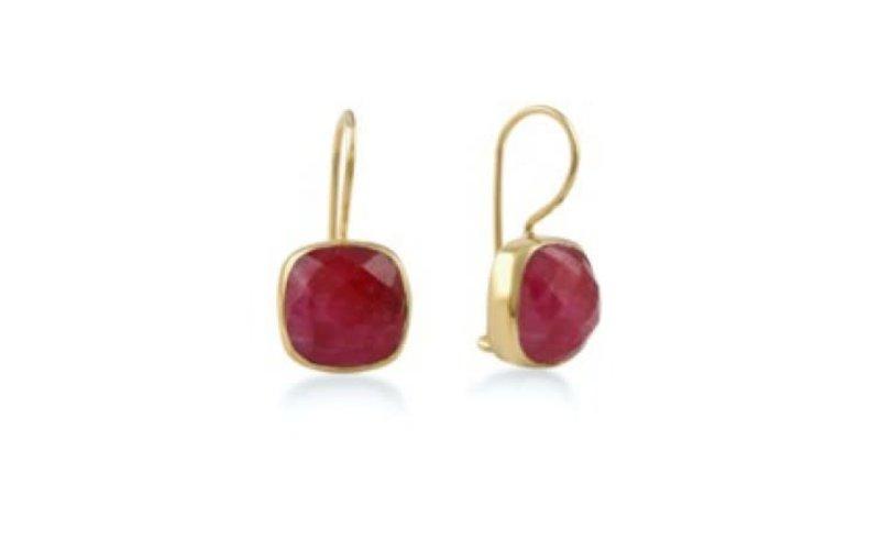 Ps Call Me Gouden oorbellen stone ruby