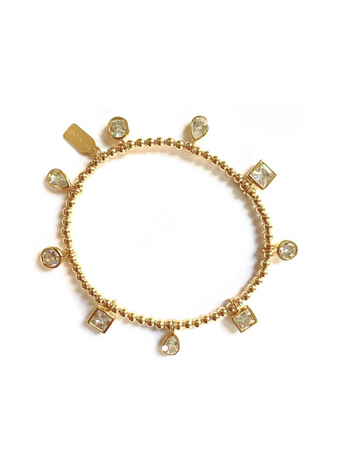 Ps Call Me Bracelet charms of colour clear gold coloured