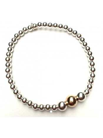 Ps Call Me Bracelet three silver gold