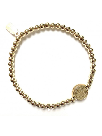 Ps Call Me Bracelet gold lucky coin