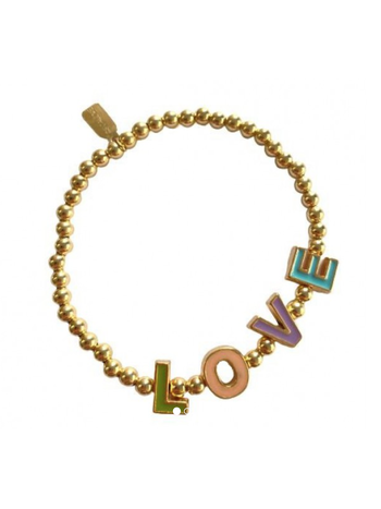 Ps Call Me Bracelet gold initials coloured