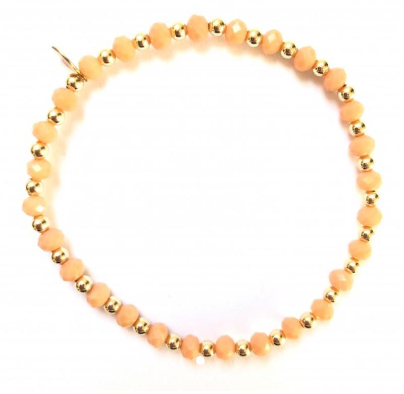 Ps Call Me Bracelet gold mix peach coloured