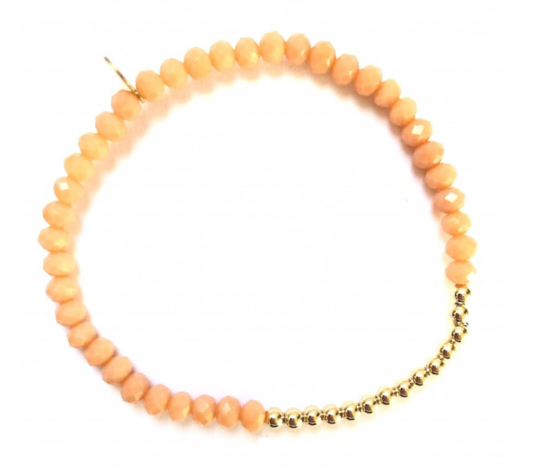 Ps Call Me Bracelet gold wings peach coloured