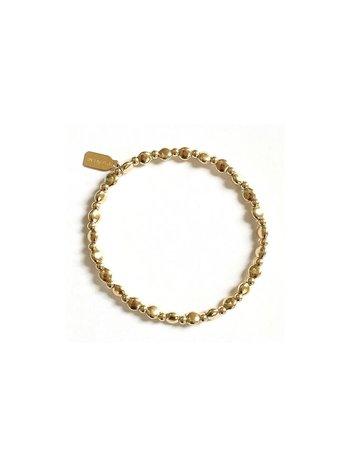 Ps Call Me Bracelet gold basic flat mix 3mm