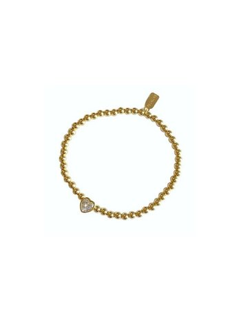 Ps Call Me Bracelet gold heart cube clear