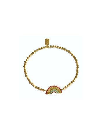 Ps Call Me Bracelet gold rainbow 3mm
