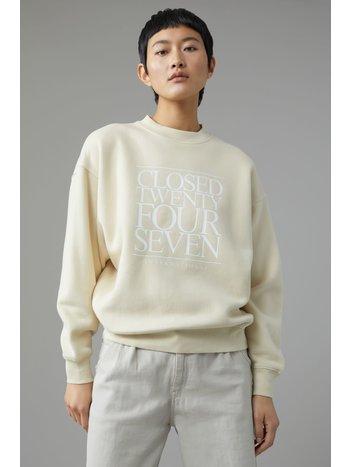 Closed Sweater logo almond cream
