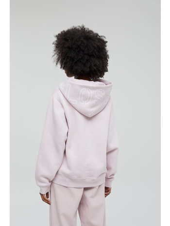 Closed Sweater hooded logo icy verbena