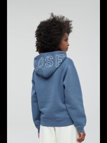 Closed Sweater hooded logo blue slate
