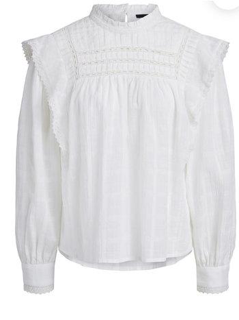 SET Blouse white embroidery