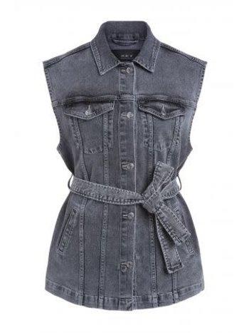SET Jacket sleeveless denim grey